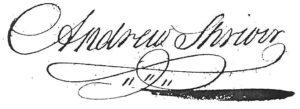 Andrew Shriver signature