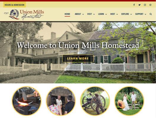 Union Mills Homestead Website