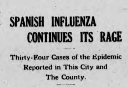 Coronavirus: Reminder of 1918 Flu Epidemic in Union Mills