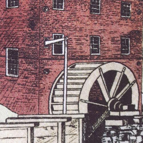 union mills tote bag detail