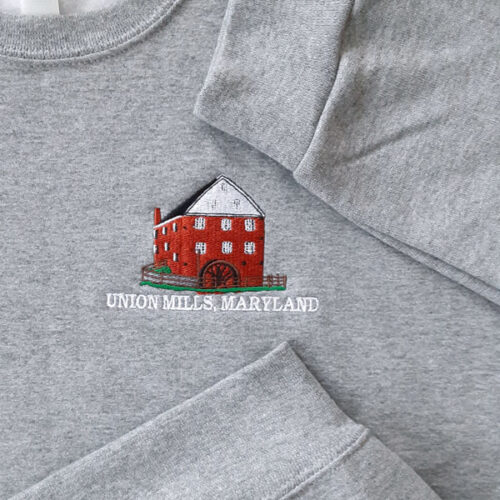 union mills sweatshirt grey cuffs closeup