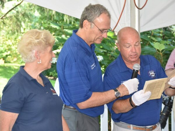 Cornerstone unveiling event at the Union Mills Homestead