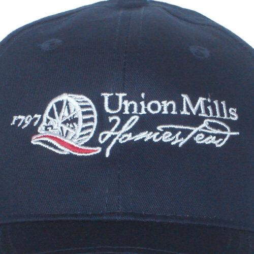 union mills hat navy closeup