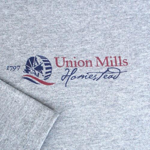 union mills tshirt grey closeup